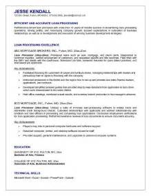 loan processor cover letters