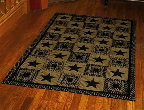 Ihf Country Star Black Braided Rug. 1970s Living Room. Small Open Floor Plan Kitchen Living Room. Living Room Chic. Navy Living Room