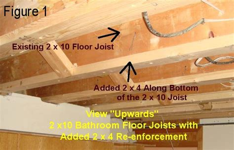 sistering floor joists with plywood joist re enforcement vs quot sistering quot ceramic tile advice