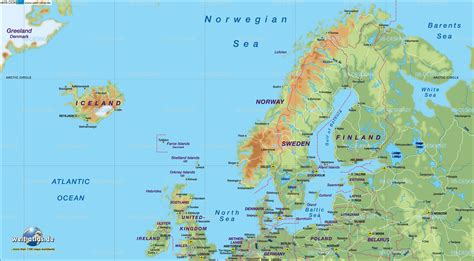 map  northern europe countries  iceland