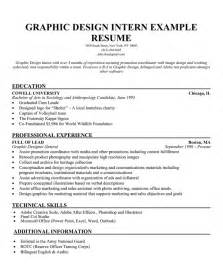resume objective for an internship sle design resume objectives