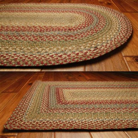 country jute braided area throw rugs oval rectangle