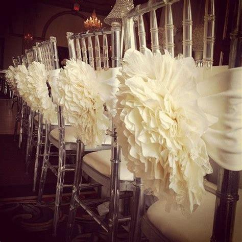 wedding chair backs ruffled wedding reception chair