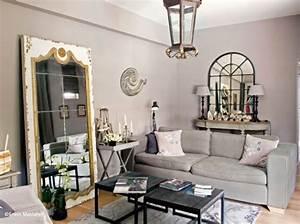 Miroir Deco Salon : salon idee deco miroir mesa con spejo tras sof ~ Melissatoandfro.com Idées de Décoration