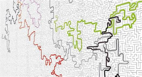 Tapete Zum Abwischen by Der Interaktive Wandschmuck Die Labyrinth Tapete