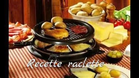 recette raclette 2016