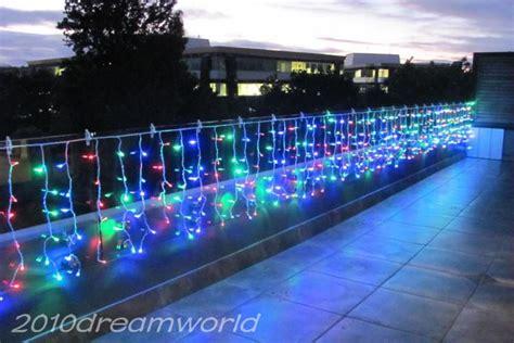 do icicle christmas lights use much power 10m x 0 6 m 320 led icicle curtain lights string wedding white warm eu us uk
