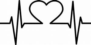 Clipart - Heart EKG Black