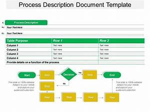 Process Description Document Template Powerpoint Slide