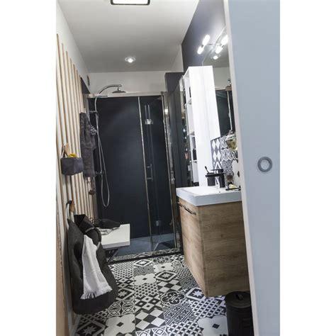 carrelage int 233 rieur gatsby artens en gr 232 s noir et blanc 20 x 20 cm leroy merlin salle de