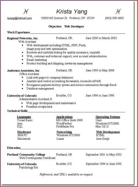Free Resume Pdf Template by Resume Template Pdf Designproposalexle