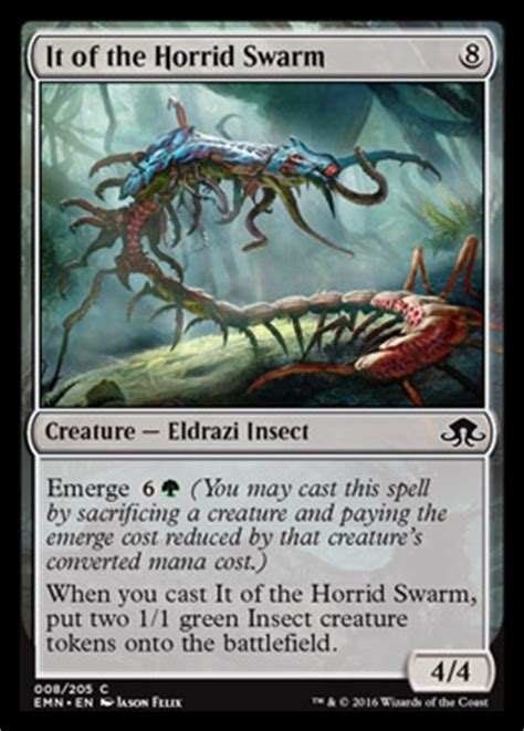 Magic The Gathering Insect Deck by It Of The Horrid Swarm Eldritch Moon Visual Spoiler