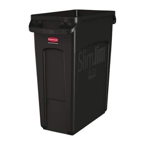 Rubbermaid Slim Jim Container Waste Bin Kitchen Rectangle