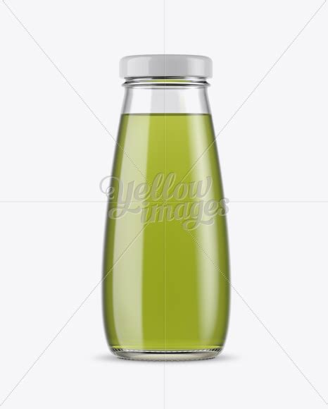The biggest source of free photorealistic bottle mockups online! 330ml Clear Glass Bottle with Aloe Vera Drink Mockup in ...
