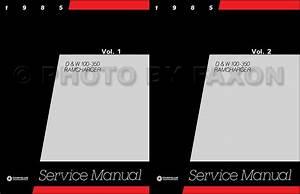 1985 Dodge Truck Repair Shop Manual D150 D250 D350 W150