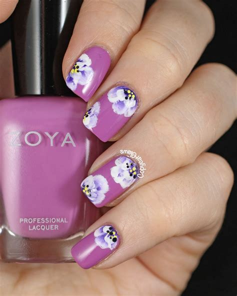 flower nail design 20 flower nail ideas floral manicures for and