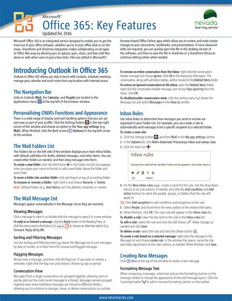 Office 365 Reference Guide reference guides office 365 nevada learning