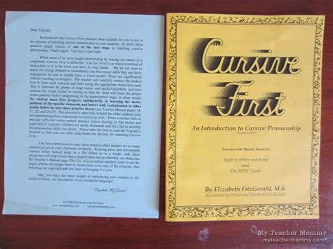 Cursive First An Introduction To Cursive Penmanship, 2nd Ed  My Teacher Mommy