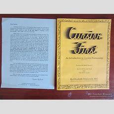 Cursive First An Introduction To Cursive Penmanship, 2nd Ed  My Teacher Mommy