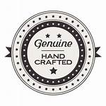 Label Etiqueta Crafted Transparent Genuina Hecha Mano