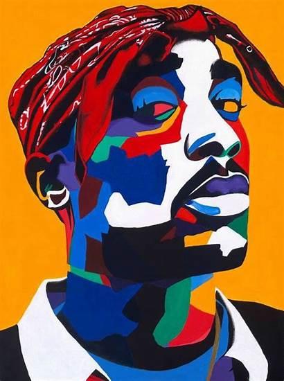 Tupac 2pac Rapper Pop Hip Hop Painting