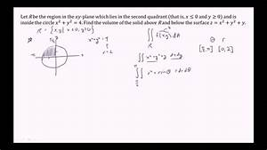 Finding The Volume Of A Solid Below A Surface