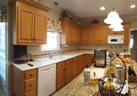 color match oak kitchen laundry cabinets  cabinet girls