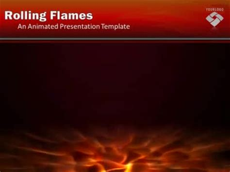 rolling flames  powerpoint template  presentermediacom