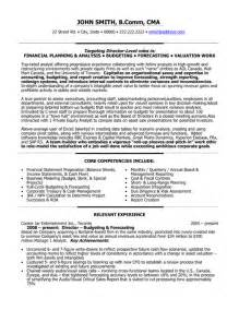 resume format resume exles director of finance