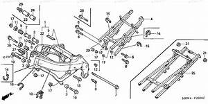 Honda Motorcycle 2000 Oem Parts Diagram For Frame   U0026 39 99