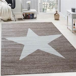 Teppich Stern Beige : designer teppich stern muster modern trendig kurzflor meliert in braun beige wohn und schlafbereich ~ Whattoseeinmadrid.com Haus und Dekorationen