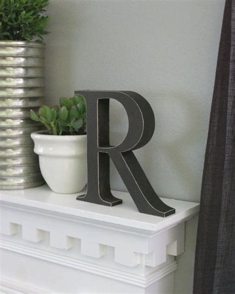 standing distressed wooden letters alphabet decor letter  decorative letters alphabet