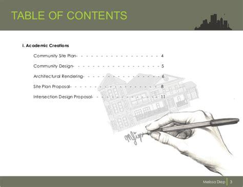 11439 architecture portfolio table of contents design portfolio