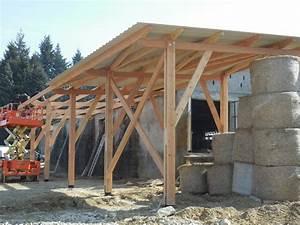 Hangar En Kit Bois : construction de hangar en bois en rh ne alpes charpente ~ Premium-room.com Idées de Décoration