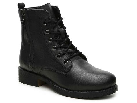 Black Boots : Steve Madden Antoine Combat Boot Women's Shoes
