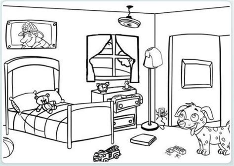 Beautiful And Modern Bedroom Coloring Pages  Coloring Pages