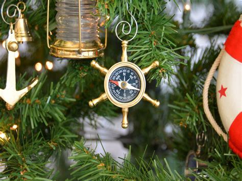 buy brass ship s wheel compass christmas tree ornament