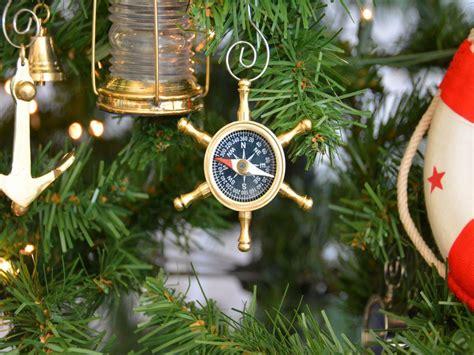 Buy Brass Ship's Wheel Compass Christmas Tree Ornament