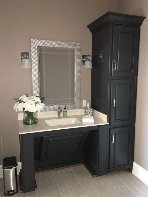 Wheelchair Accessible Sink Bathroom by Accessible Vanity Painted Bm Wrought Iron Walls Sw Sticks