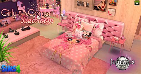 sims  blog girly corner bedroom set  jomsims