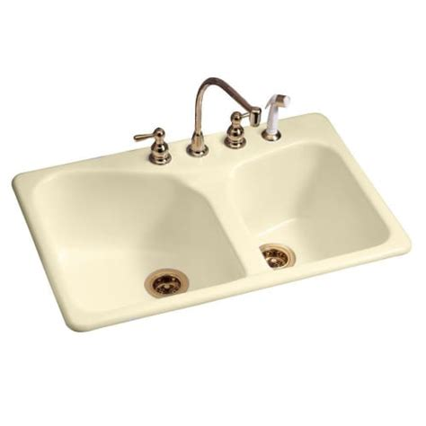 american standard cast iron kitchen sinks american standard 7045 804 bowl drop in 60 40 cast 9014