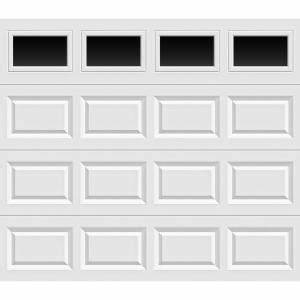 clopay value series 8 ft x 7 ft non insulated white With 9x7 insulated garage door with windows
