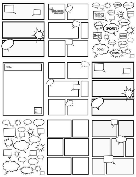 image result for how to make a comic book for 3 writing activities