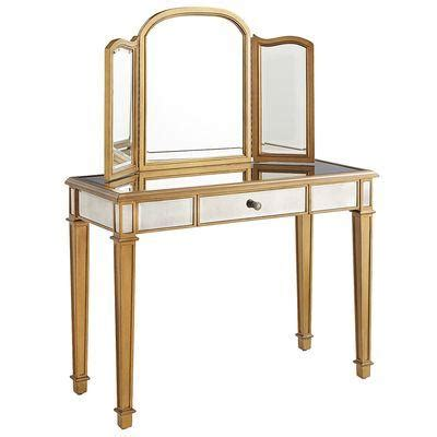 gold vanity table set hayworth gold mirror and vanity