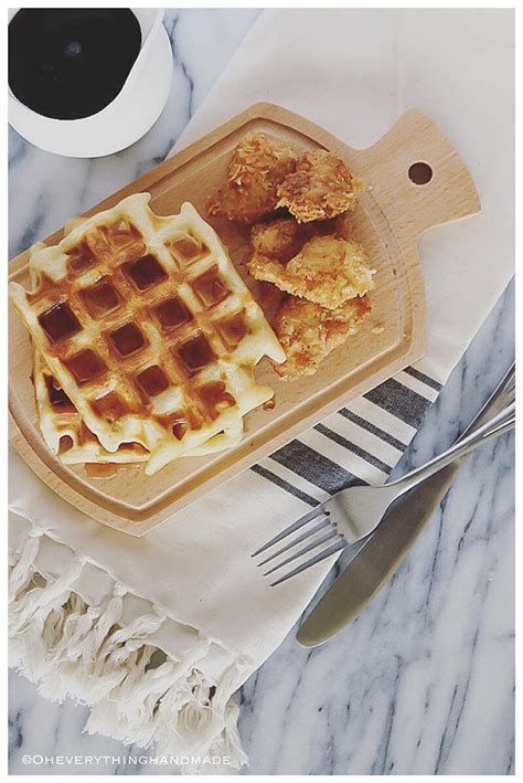 chicken  waffles recipe  oheverythinghandmade