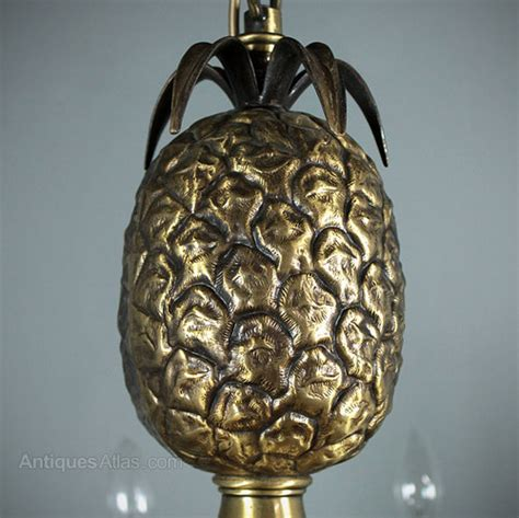 Antiques Atlas  Vintage Brass Pineapple Chandelier