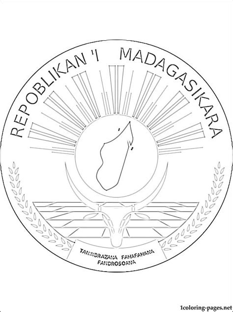 madagascar coat  arms coloring page coloring pages