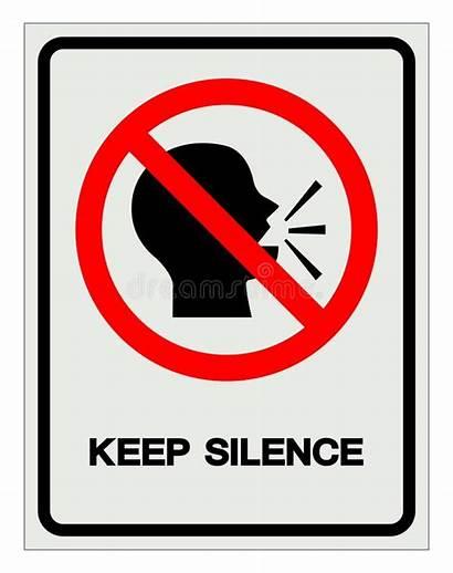 Silence Keep Symbol Simbolo Silenzio Label Ruhe