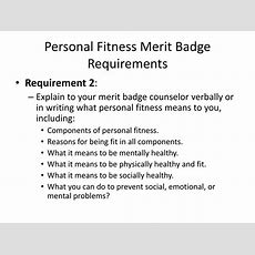 Ppt  Personal Fitness Merit Badge Powerpoint Presentation Id62563