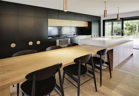 european style kitchen  polytec black matt melamine